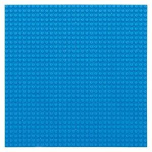 Bouwplaat cyaanblauw - 32 x 32 cm-1