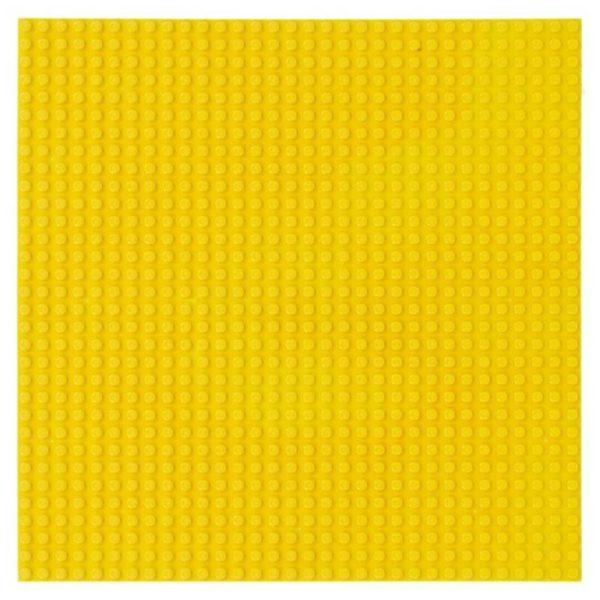 Bouwplaat geel - 32 x 32 cm-1
