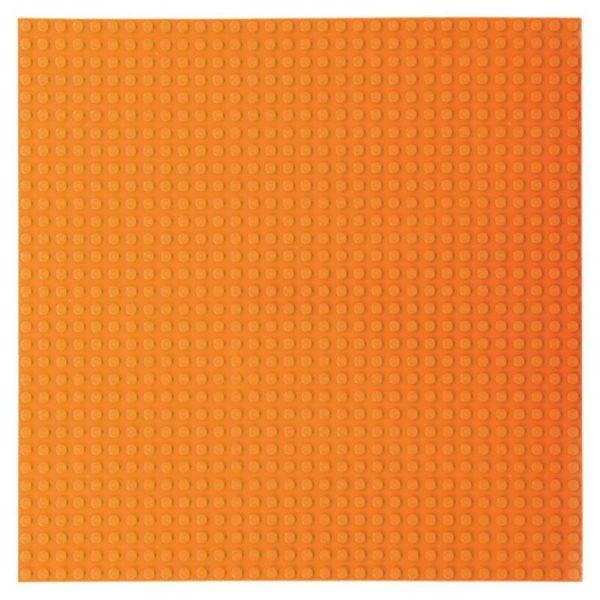 Bouwplaat oranje - 32 x 32 cm-1