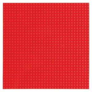 Bouwplaat rood - 32 x 32 cm-1