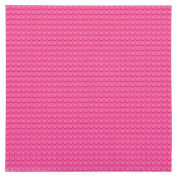 Bouwplaat roze - 32 x 32 cm-1