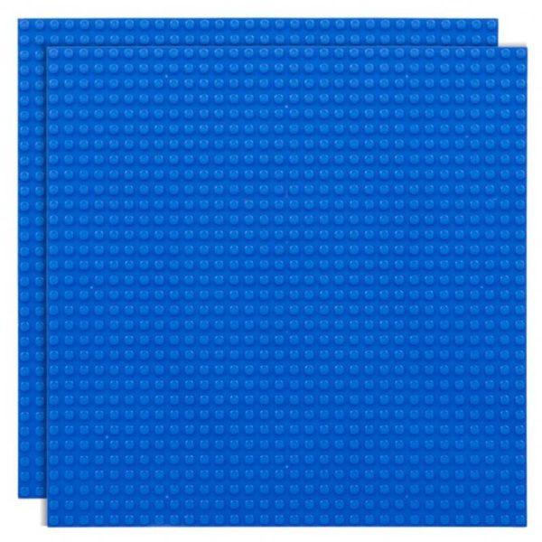 Duopak bouwplaat blauw - 32 x 32 cm