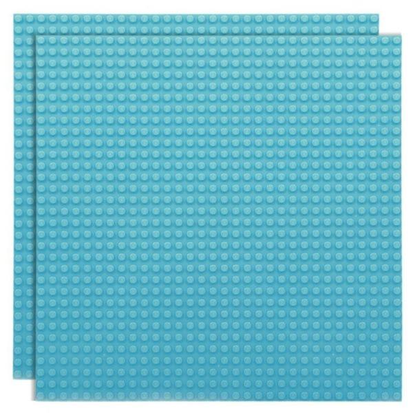 Duopak bouwplaat hemelsblauw - 32 x 32 cm