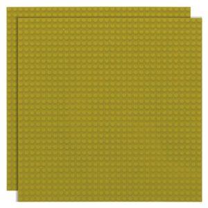Duopak bouwplaat limoen - 32 x 32 cm