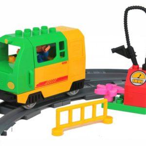 Duplo uniblocks Elektrische trein set - groen