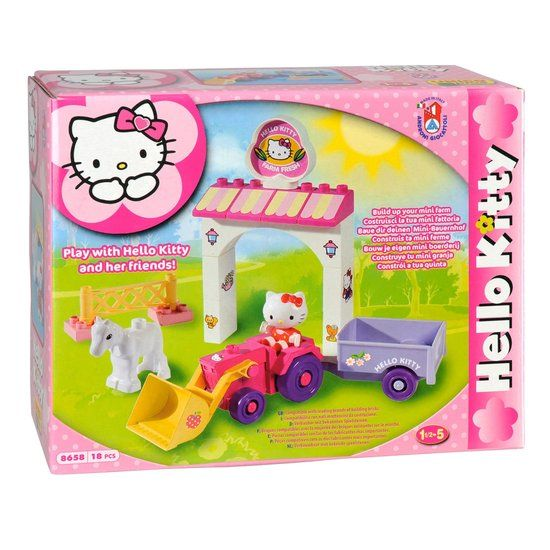 Hello kitty tractor - 18 delig-1