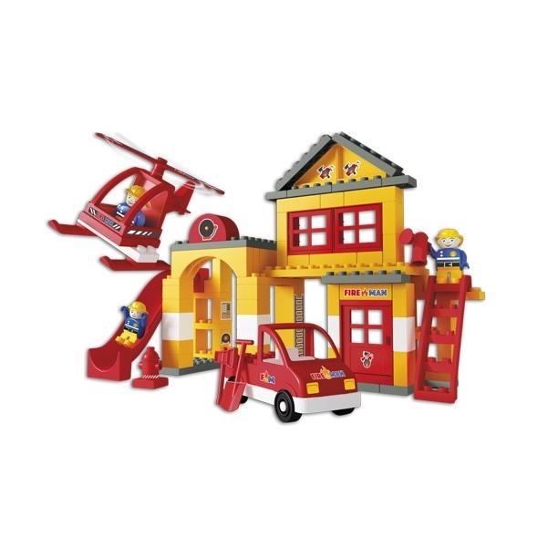 Unico Plus brandweerkazerne - 96 delig - 8558 - 1