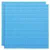 Duopak bouwplaat Cyaanblauw - 32 x 32 cm