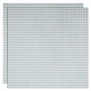 Duopak bouwplaat Lichtgrijs- 32 x 32 cm