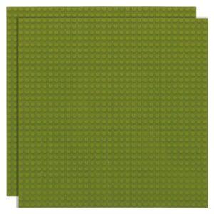Duopak bouwplaat Jungle groen - 32 x 32 cm