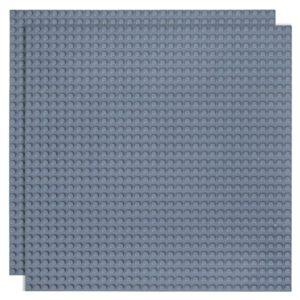 Duopak bouwplaat Houtskool grijs - 32 x 32 cm