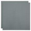 Duopak bouwplaat Donkergrijs - 32 x 32 cm