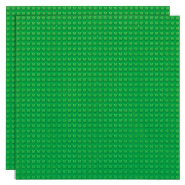 Duopak bouwplaat Groen - 32 x 32 cm