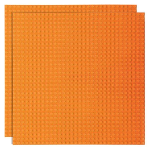 Duopak bouwplaat Oranje - 32 x 32 cm