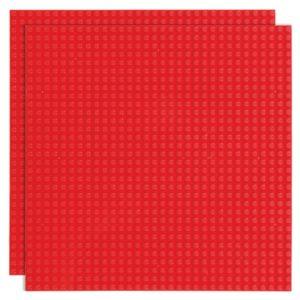Duopak bouwplaat Rood - 32 x 32 cm