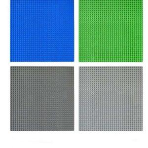 lego bouwplaat - basisplaat- blauw, grijs, groen