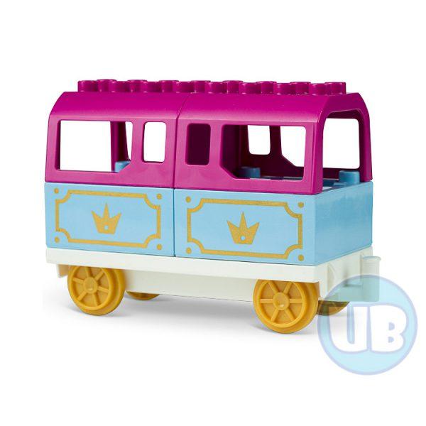 duplo trein wagon paars