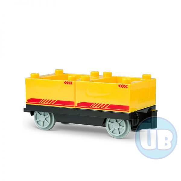 Trein wagon onderstel met gele containers