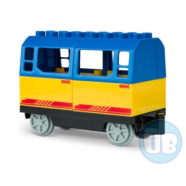 duplo trein wagon blauw