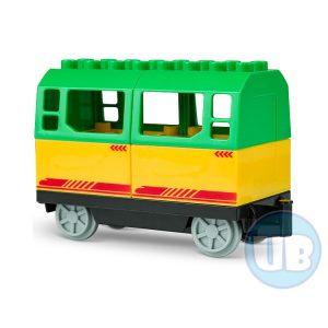 duplo trein wagon groen