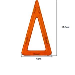 magnetisch bouwblok los onderdeel punt driehoek