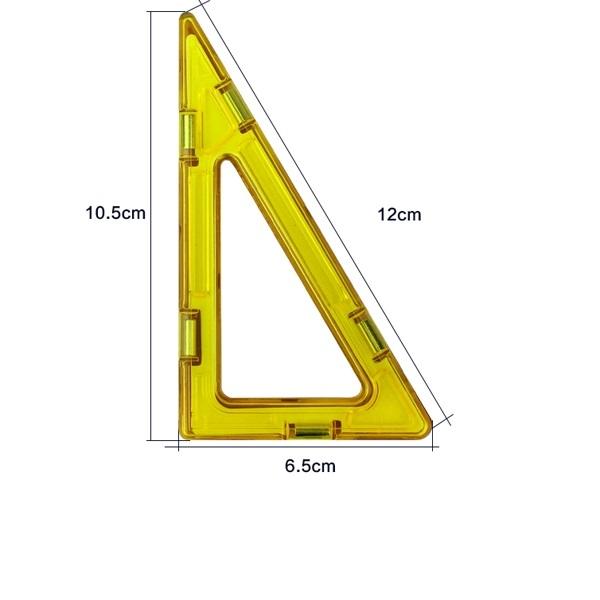 magnetisch bouwblok los onderdeel punt driehoek met rechte kant