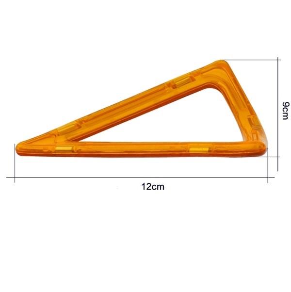 magnetisch bouwblok los onderdeel punt driehoek met ronding