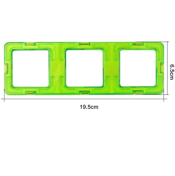 magnetisch bouwblok los onderdeel drie vierkant