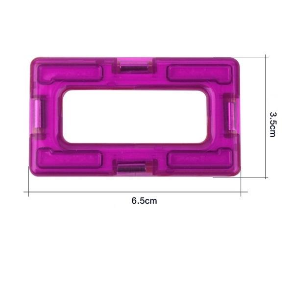 magnetisch bouwblok los onderdeel rechthoek