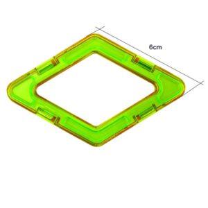magnetisch bouwblok los onderdeel ruit