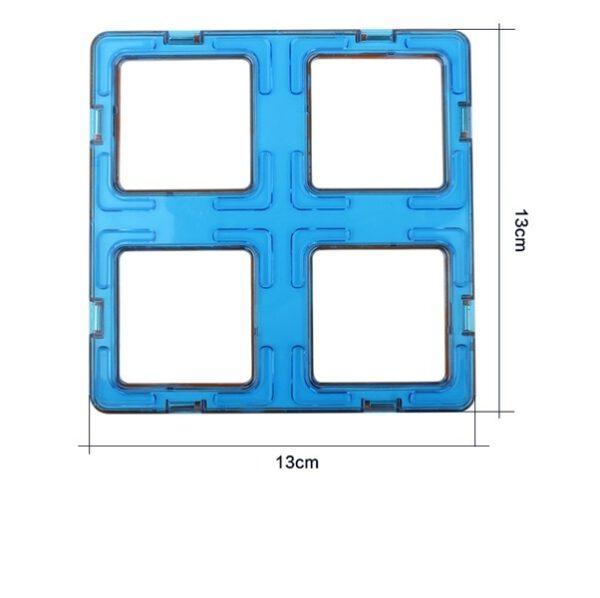 magnetisch speelgoed los onderdeel vier vierkanten