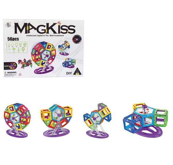 MAGKISS 56 delig - magnetisch constructie speelgoed