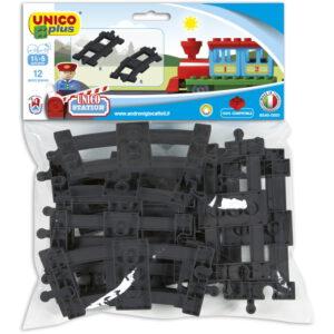 Unico Plus Treinrails bocht en recht - 12 delig - 8540 Unico Plus Treinrails bocht en recht – 12 delig – 8540