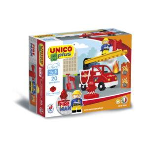 Duplo Unico Plus brandweerauto - 20 delig - 8546
