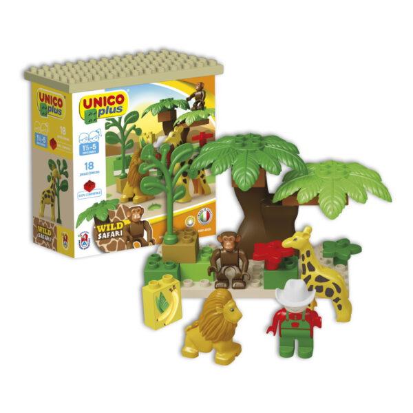 Unico Plus small wild safari - 18 delig - 8561