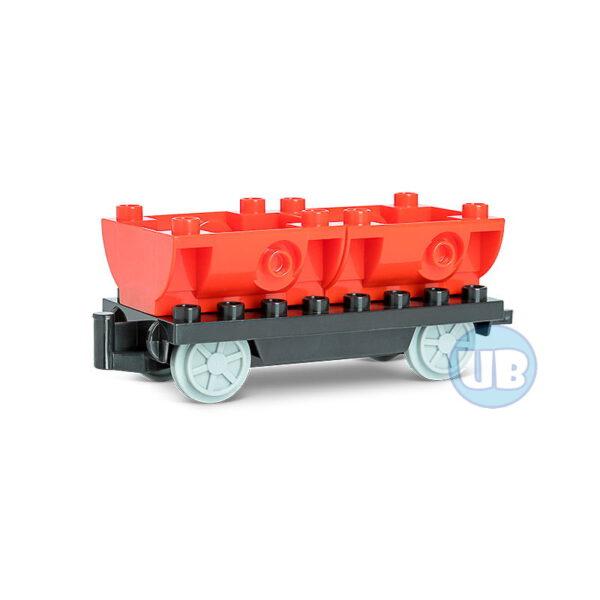 Trein wagon onderstel met rode containers - 1