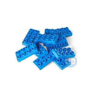 Bouwsteen 2 x 4 blauw - 10 stuks