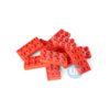 Bouwsteen 2 x 4 rood - 10 stuks