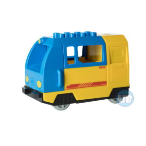 duplo elektrische trein blauw met tanker
