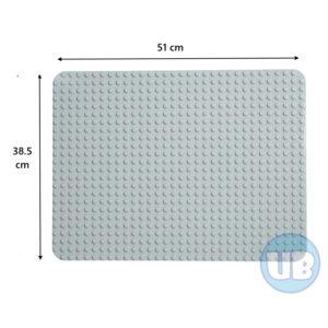 duplo Grote XL bouwplaat lichtgrijs - 51 x 38,5 cm