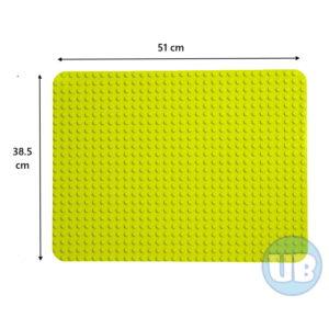 duplo Grote XL bouwplaat groen - 51 x 38,5 cm