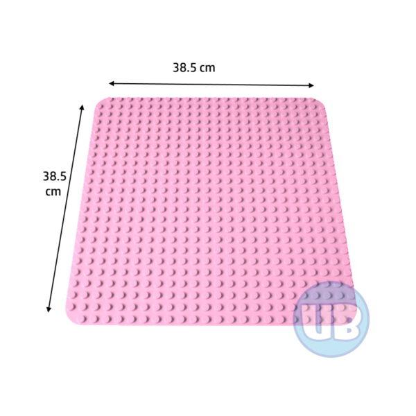 duplo Grote bouwplaat lichtroze - 38,5 x 38,5 cm