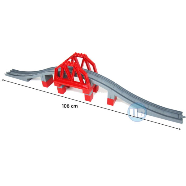 Duplo universele spoortrein brug van uniblocks - 100 cm