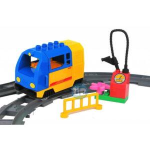 duplo elektrische trein blauw