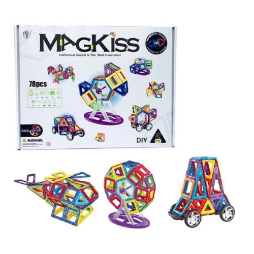 MAGKISS 78 delig - magnetisch constructie speelgoed